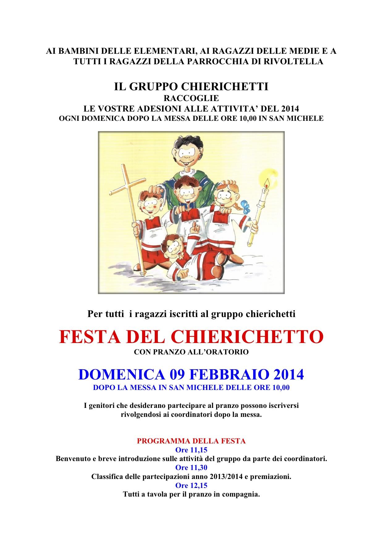 Locandina Festa Chierichetti 2014