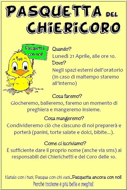 Pasquetta ChieriCoro