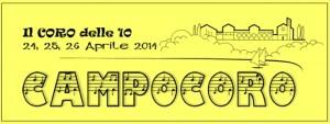 Scritta CampoCoro 2.014