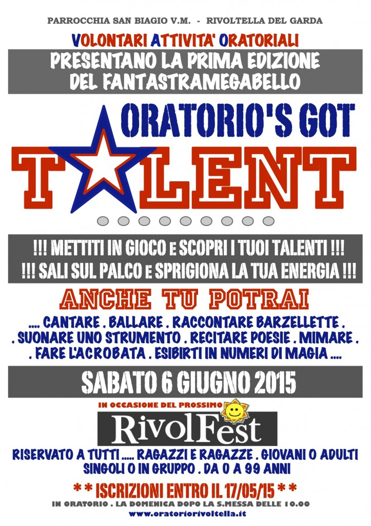 ORATORIO'S GOT TALENT