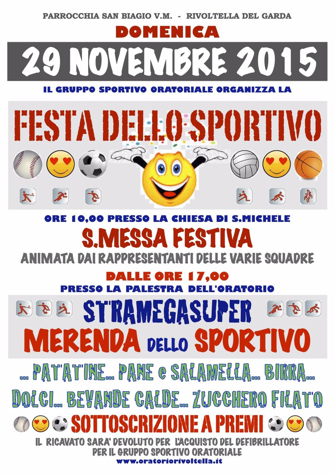 Festa dello Sportivo 2015 in Oratorio S. Michele a Rivoltella